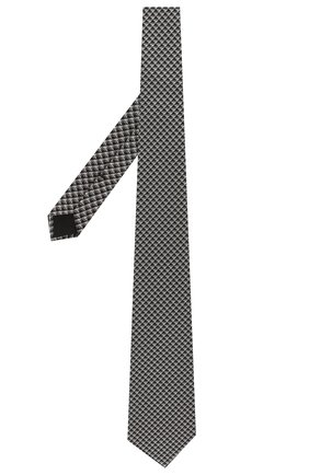 Мужской шелковый галстук TOM FORD черно-белого цвета, арт. 5TF06/XTF | Фото 2