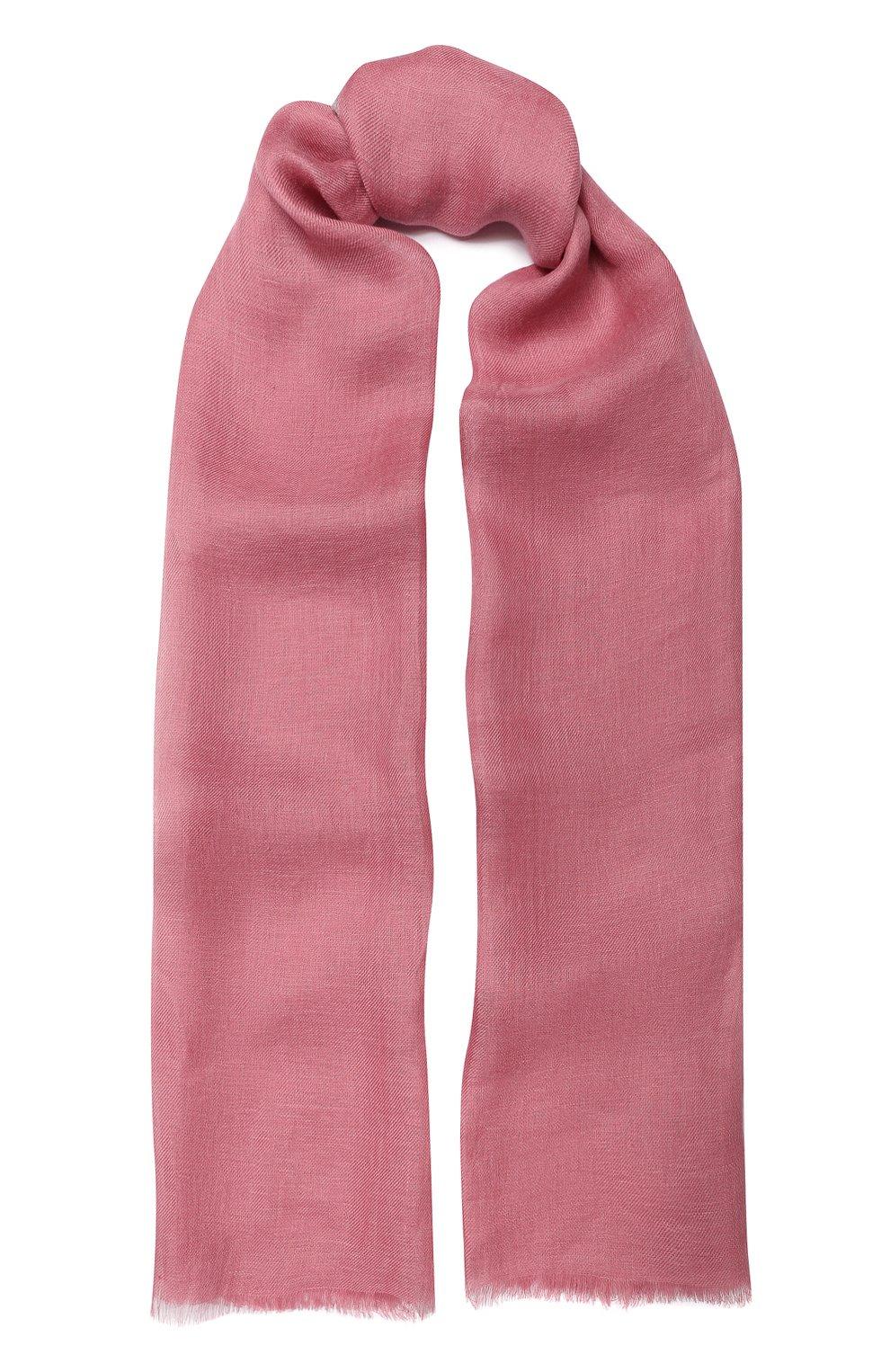Женская шаль neilos из смеси льна и шерсти с шелком LORO PIANA розового цвета, арт. FAI1507 | Фото 1