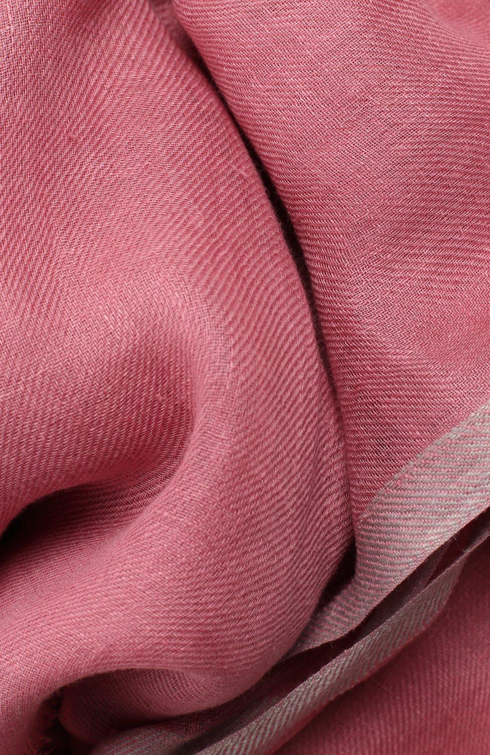 Женская шаль neilos из смеси льна и шерсти с шелком LORO PIANA розового цвета, арт. FAI1507 | Фото 2