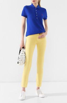 Женские джинсы-скинни POLO RALPH LAUREN желтого цвета, арт. 211729806 | Фото 2