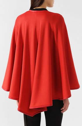 Пончо из смеси кашемира и шелка Loro Piana красная | Фото №4
