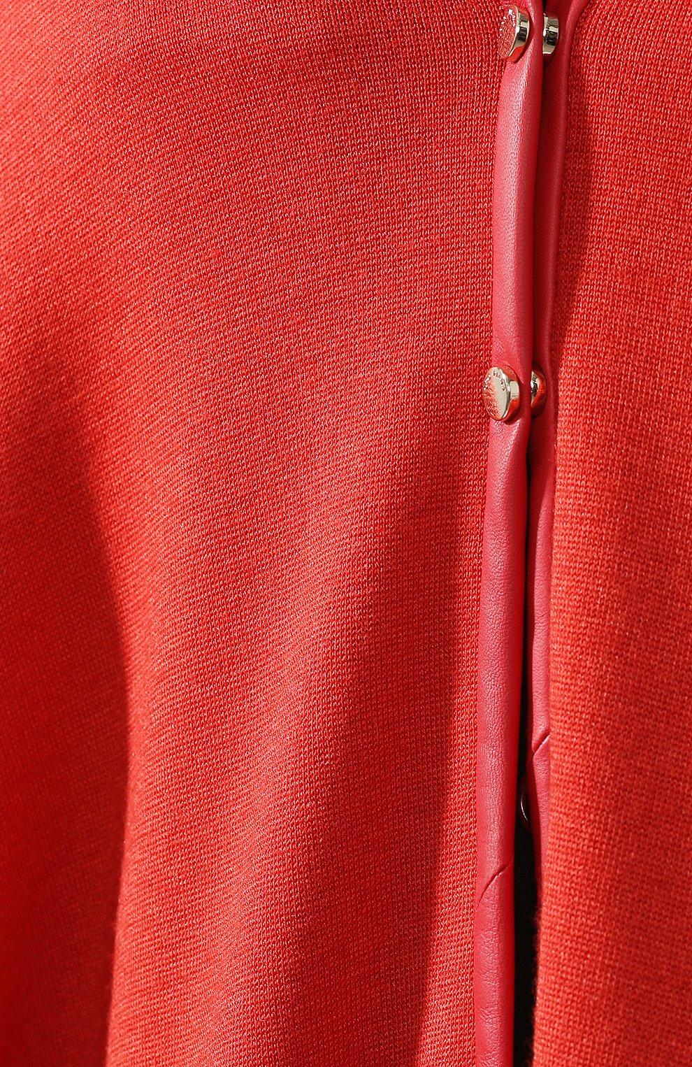 Пончо из смеси кашемира и шелка Loro Piana красная | Фото №5