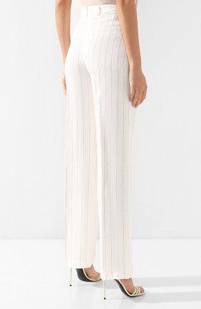 Льняные брюки Loro Piana белые | Фото №4