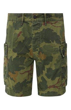 Мужские хлопковые шорты RRL хаки цвета, арт. 782726013 | Фото 1