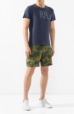 Мужские хлопковые шорты RRL хаки цвета, арт. 782726013 | Фото 2