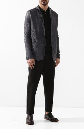 Мужская кожаная куртка GIORGIO BRATO темно-серого цвета, арт. GU19S9087V   Фото 2 (Мужское Кросс-КТ: Куртка-верхняя одежда, Кожа и замша, Верхняя одежда; Статус проверки: Проверена категория; Рукава: Длинные; Длина (верхняя одежда): Короткие; Кросс-КТ: Куртка)