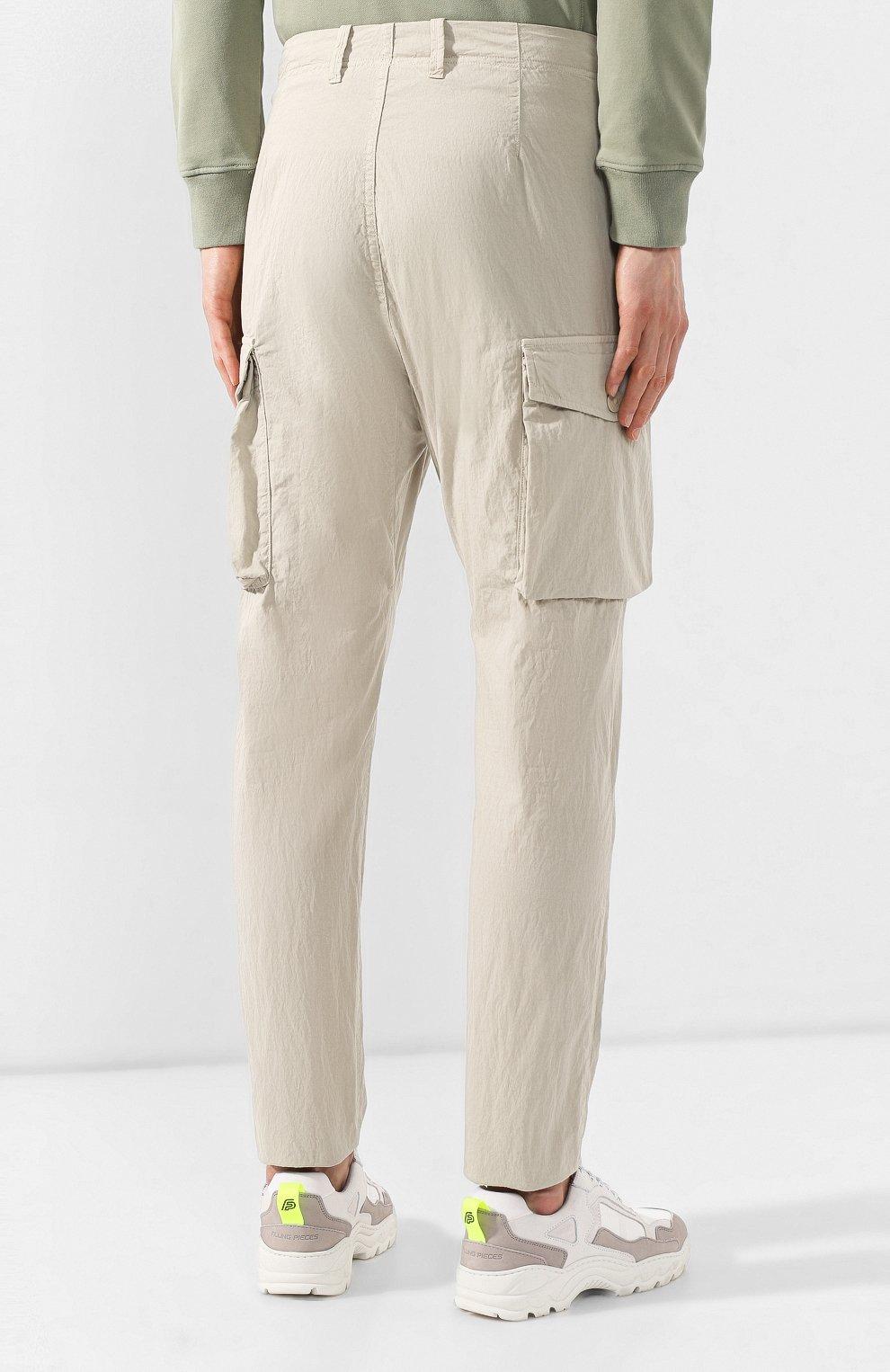 877630cfb7c Мужские бежевые хлопковые брюки карго STONE ISLAND — купить за 20850 ...