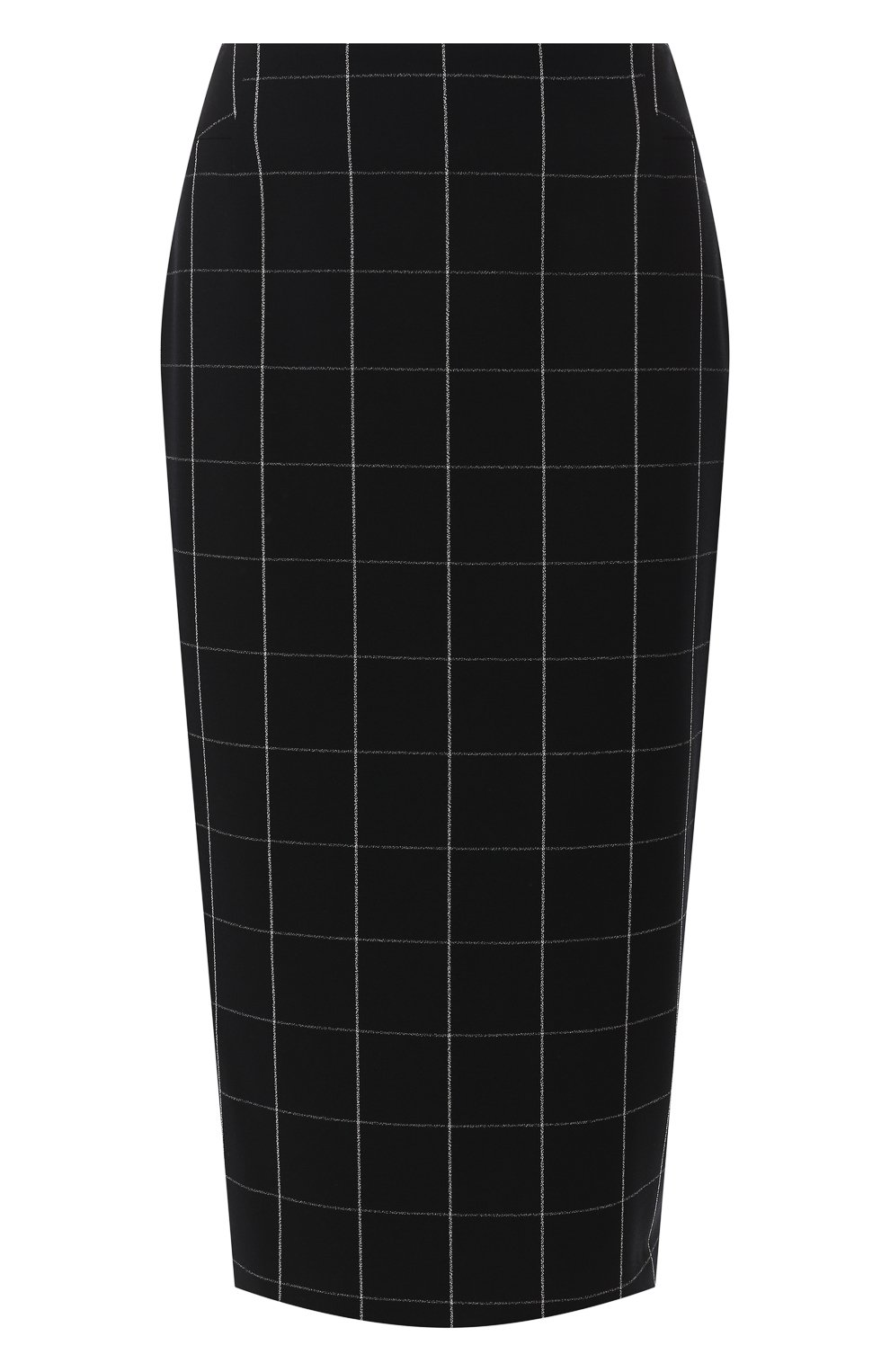 Женская юбка-миди BOSS черно-белого цвета, арт. 50404835 | Фото 1