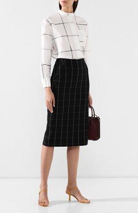 Женская юбка-миди BOSS черно-белого цвета, арт. 50404835 | Фото 2