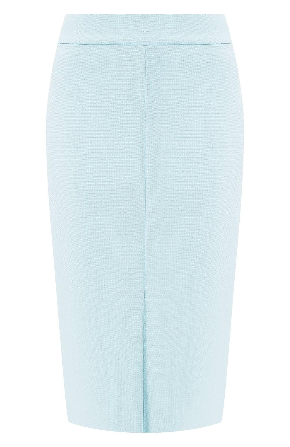 Женская юбка-миди BOSS бирюзового цвета, арт. 50404819   Фото 1