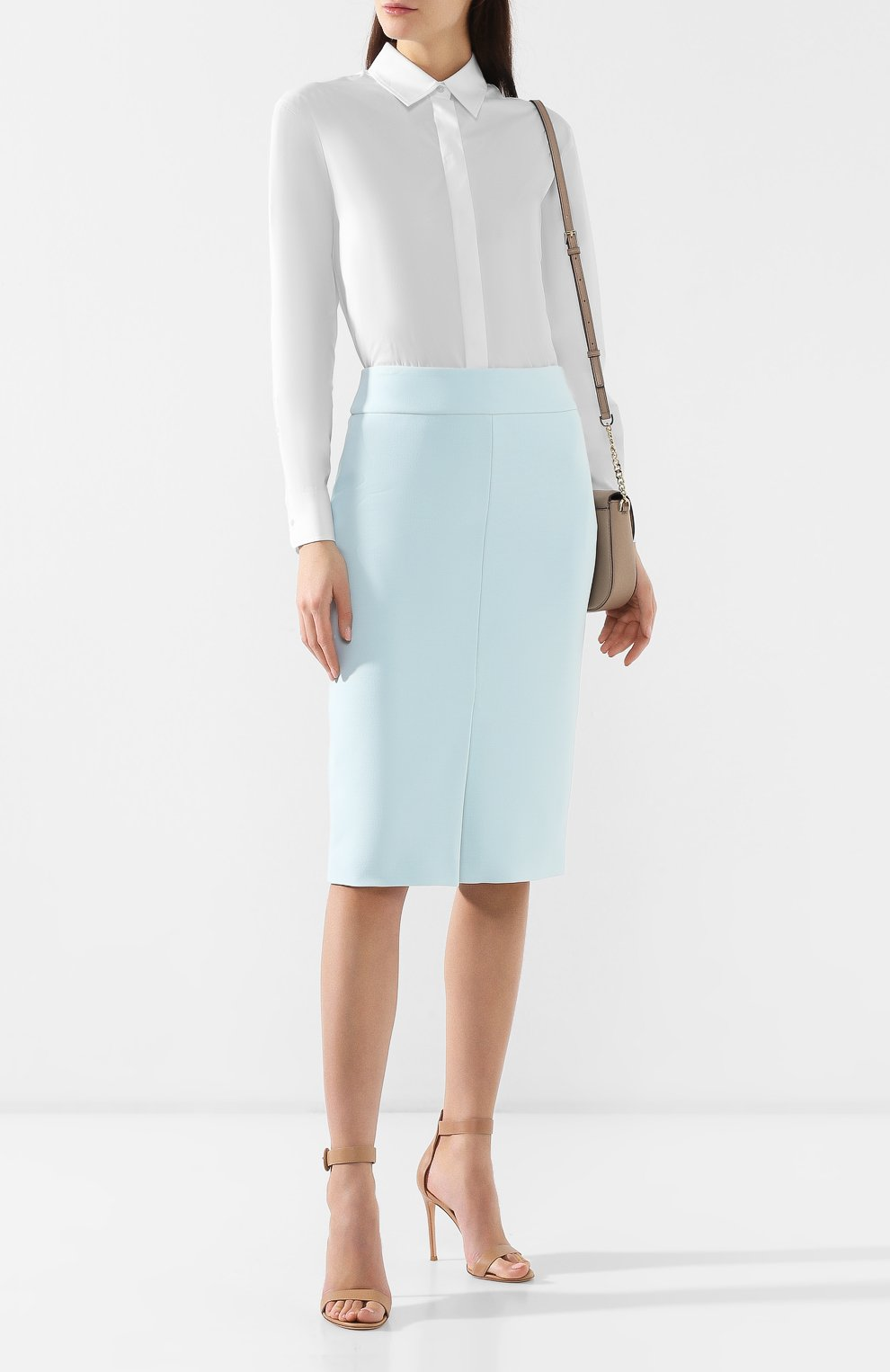 Женская юбка-миди BOSS бирюзового цвета, арт. 50404819   Фото 2