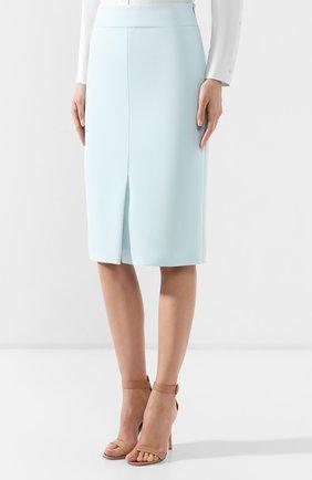 Женская юбка-миди BOSS бирюзового цвета, арт. 50404819   Фото 3