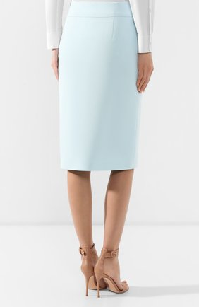 Женская юбка-миди BOSS бирюзового цвета, арт. 50404819   Фото 4