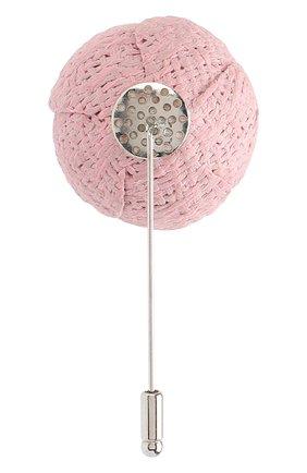 Мужская брошь FLOWER ME розового цвета, арт. CMML-LI016010MM | Фото 2