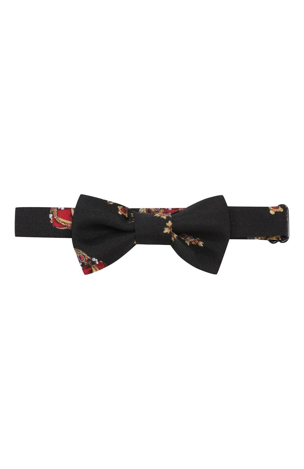 Детский шелковый галстук-бабочка DOLCE & GABBANA черного цвета, арт. LB6A68/G0TAV | Фото 1 (Материал: Текстиль, Шелк; Кросс-КТ: Галстук-бабочка; Статус проверки: Проверено, Проверена категория)