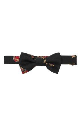 Детский шелковый галстук-бабочка DOLCE & GABBANA черного цвета, арт. LB6A68/G0TAV | Фото 1