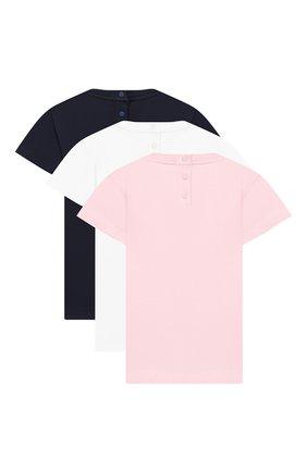 Детский комплект из трех хлопковых футболок EMPORIO ARMANI разноцветного цвета, арт. 3GED03/3J08Z | Фото 2