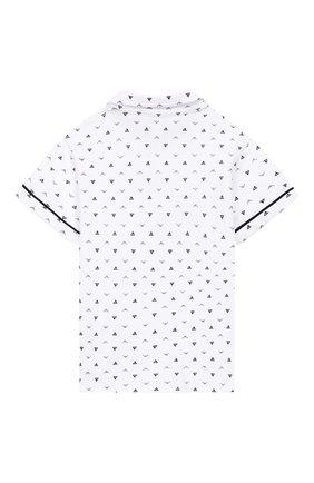 Детский хлопковая рубашка EMPORIO ARMANI белого цвета, арт. 3GHC05/4NHKZ | Фото 2