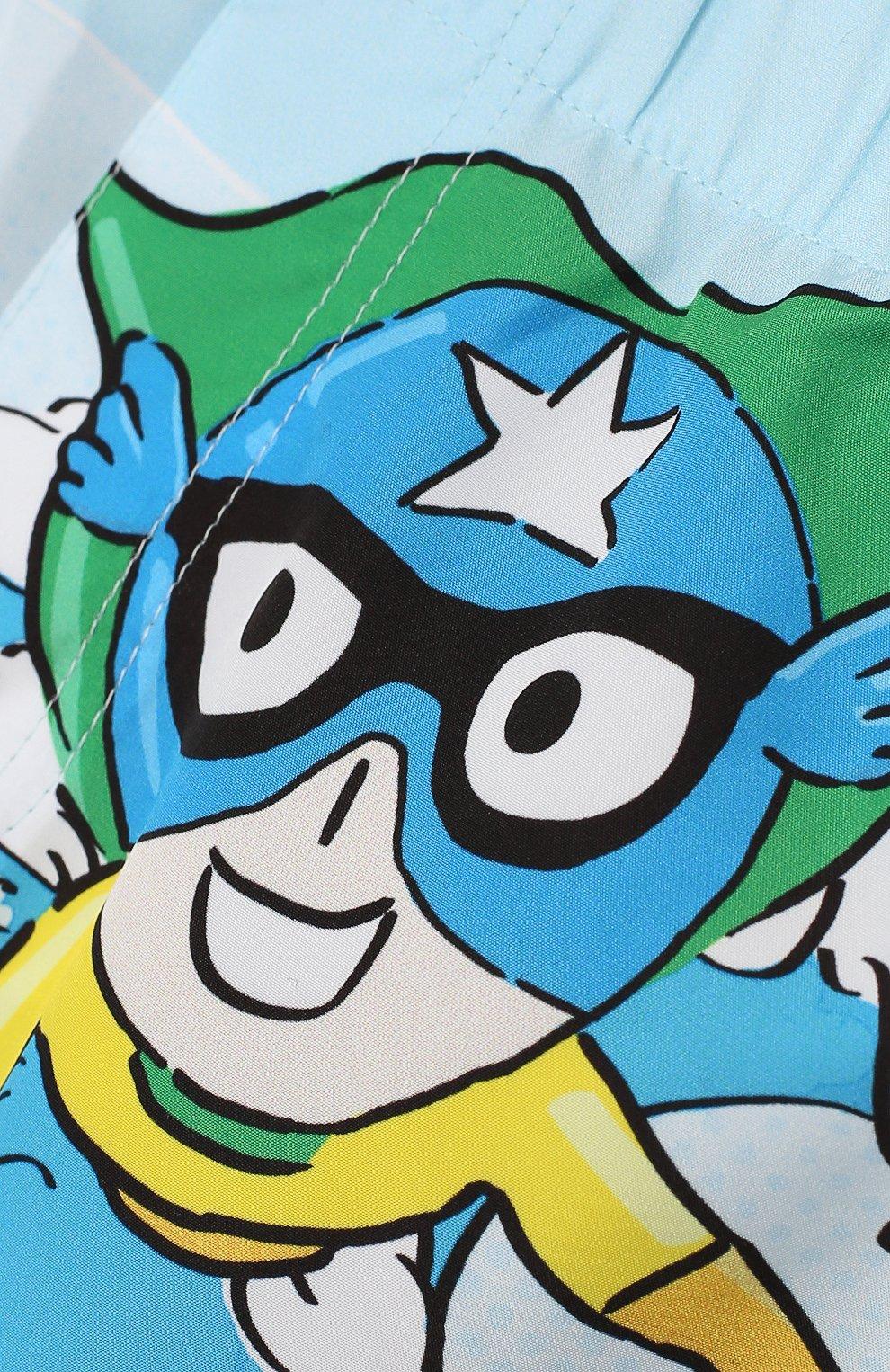 Детского плавки-шорты DOLCE & GABBANA голубого цвета, арт. L1J820/G7QWY | Фото 3