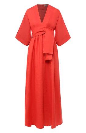 Льняное платье с поясом | Фото №1