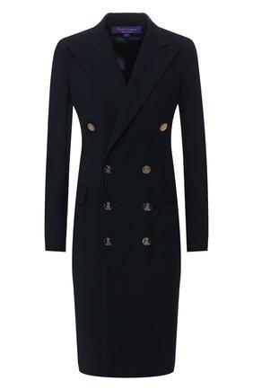 Женское шерстяное платье RALPH LAUREN темно-синего цвета, арт. 290740698 | Фото 1