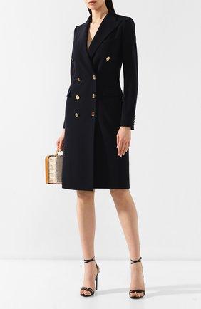 Женское шерстяное платье RALPH LAUREN темно-синего цвета, арт. 290740698 | Фото 2