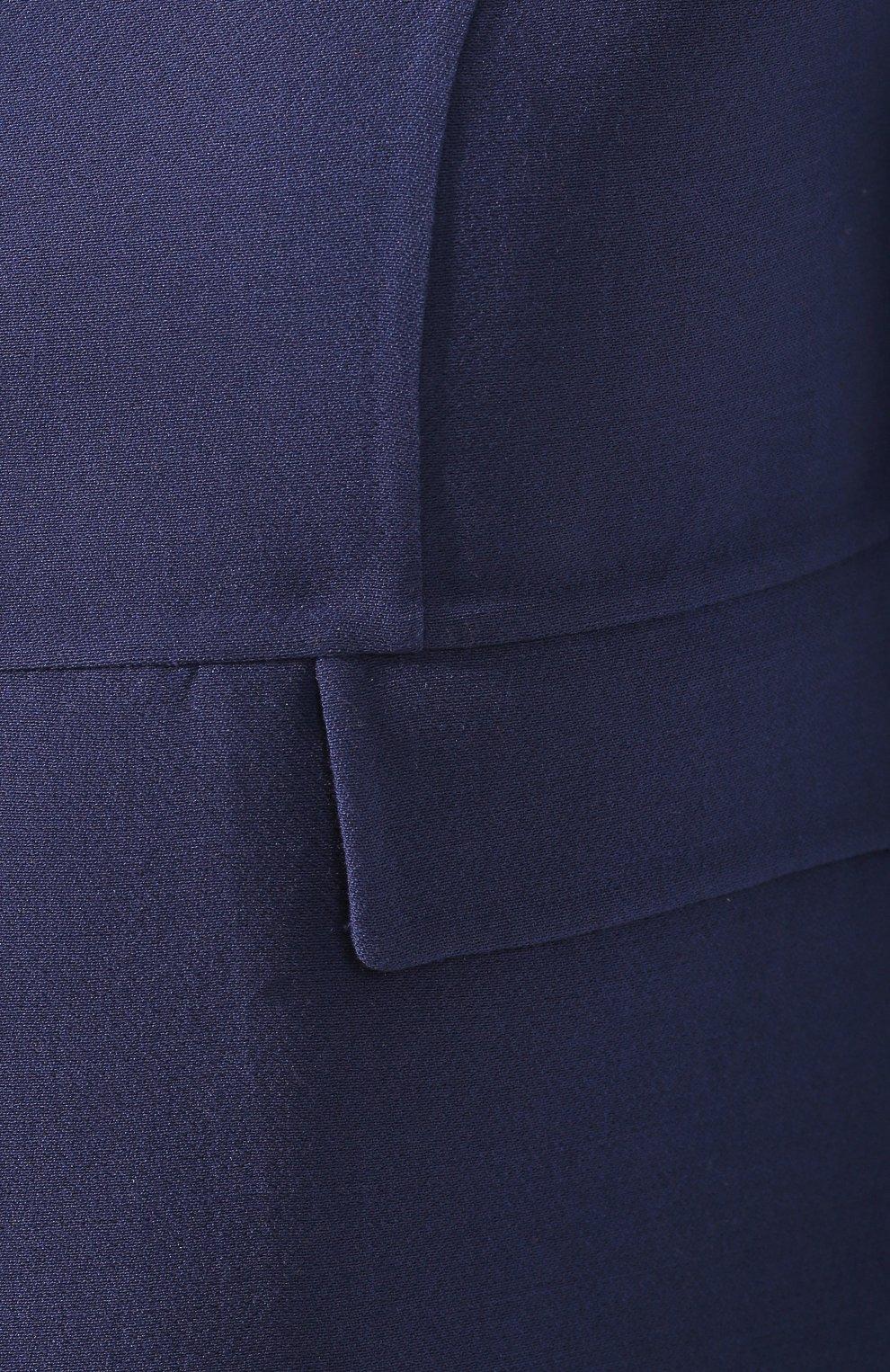 Шерстяной жакет Valentino синий | Фото №5
