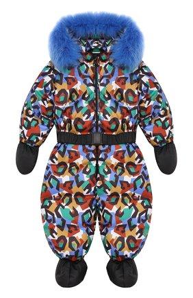 Детский пуховый комбинезон геометрия CHEPE разноцветного цвета, арт. 391788 | Фото 1
