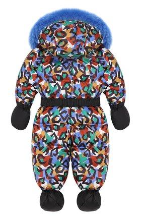 Детский пуховый комбинезон геометрия CHEPE разноцветного цвета, арт. 391788 | Фото 2
