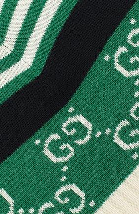 Хлопковая шапка Gucci зеленого цвета | Фото №3