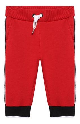 Детские хлопковые джоггеры GIVENCHY красного цвета, арт. H04044/6M-18M | Фото 1