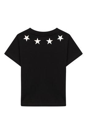 Детский хлопковая футболка GIVENCHY черного цвета, арт. H05073/6M-18M | Фото 2