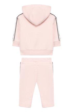Детский комплект из хлопкового кардигана и брюк GIVENCHY розового цвета, арт. H08016/6M-18M | Фото 2