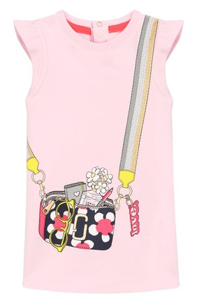 Женский хлопковое платье MARC JACOBS (THE) розового цвета, арт. W02120/6M-18M | Фото 1