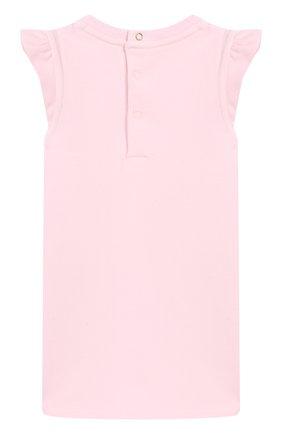Женский хлопковое платье MARC JACOBS (THE) розового цвета, арт. W02120/6M-18M | Фото 2