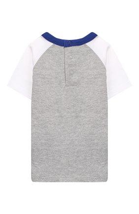 Детский хлопковая футболка MARC JACOBS (THE) серого цвета, арт. W05256/6M-18M | Фото 2