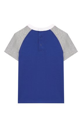 Детский хлопковая футболка MARC JACOBS (THE) синего цвета, арт. W05256/6M-18M | Фото 2