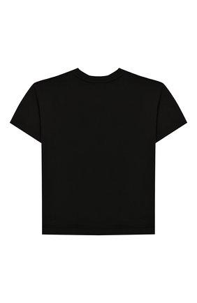Детская хлопковая футболка DOLCE & GABBANA черного цвета, арт. L4JT7N/G7RM0/2-6 | Фото 2