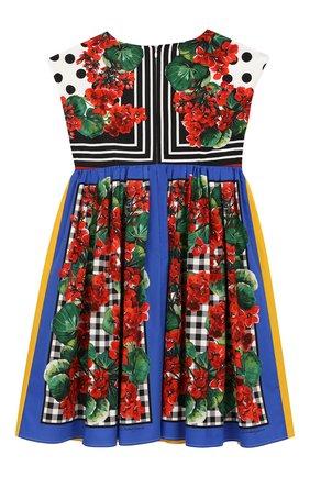 Детское хлопковое платье DOLCE & GABBANA разноцветного цвета, арт. L51DH5/LA306/2-6 | Фото 2