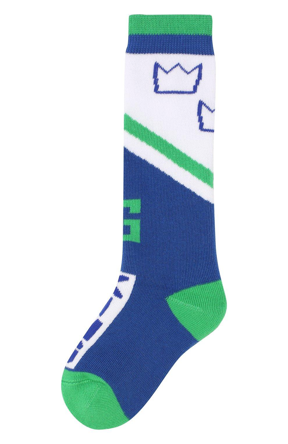 Детские хлопковые носки DOLCE & GABBANA синего цвета, арт. LB6A73/JACDA | Фото 1 (Материал: Текстиль, Хлопок; Статус проверки: Проверено, Проверена категория)