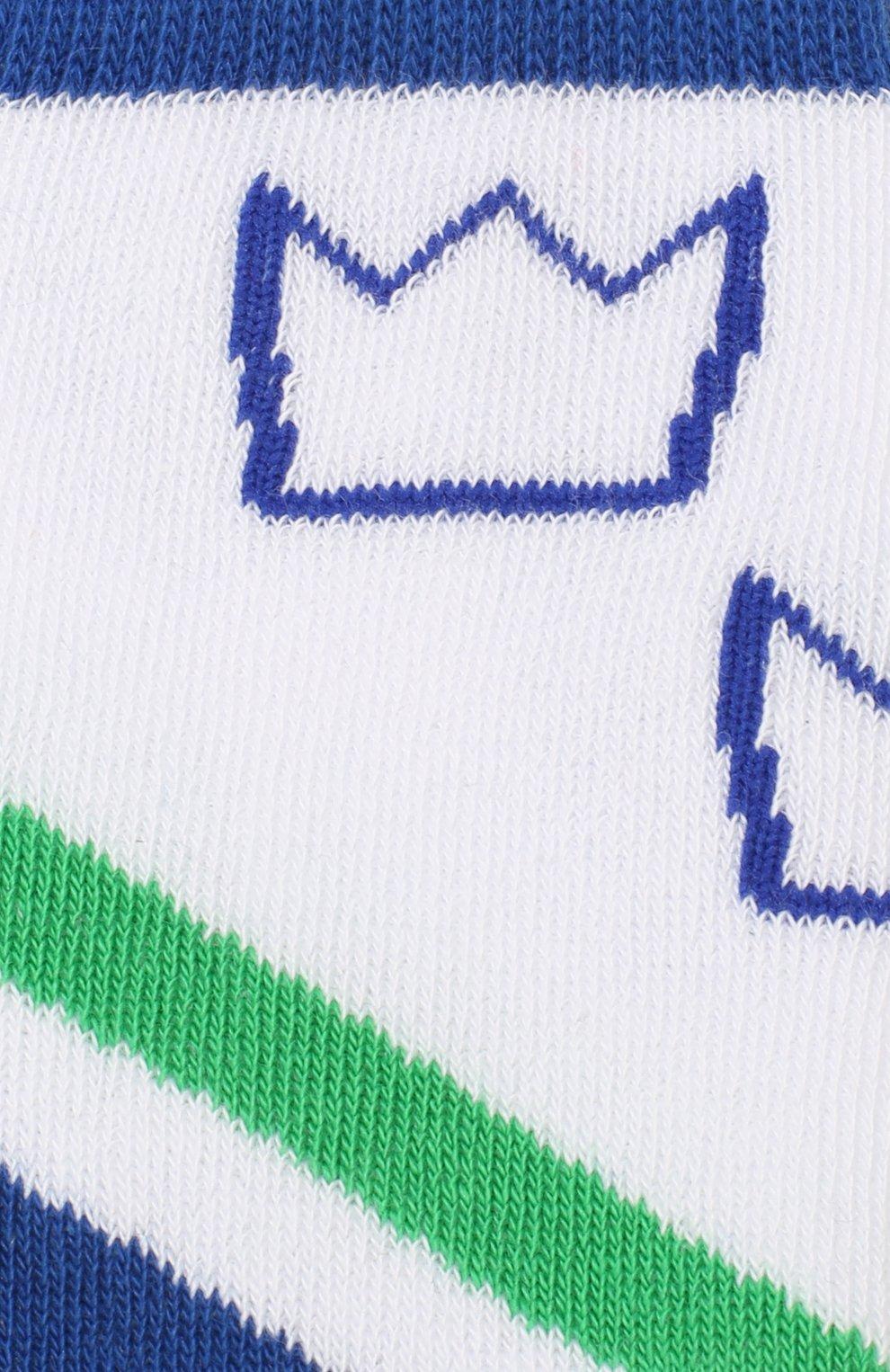 Детские хлопковые носки DOLCE & GABBANA синего цвета, арт. LB6A73/JACDA | Фото 2 (Материал: Текстиль, Хлопок; Статус проверки: Проверено, Проверена категория)