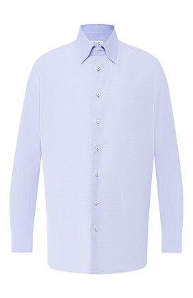 Мужская хлопковая рубашка ZILLI синего цвета, арт. MFR-01076-MERCU/RZ01 | Фото 1