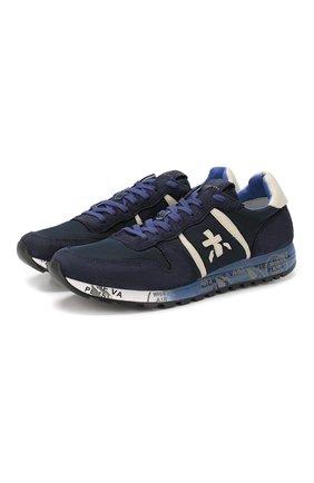 Мужские комбинированные кроссовки eric PREMIATA темно-синего цвета, арт. ERIC/VAR 3289 | Фото 1