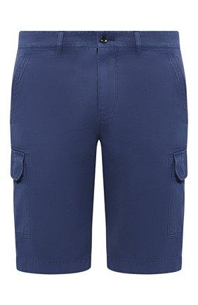 Мужские шорты из смеси хлопка и льна LORO PIANA синего цвета, арт. FAI6469 | Фото 1