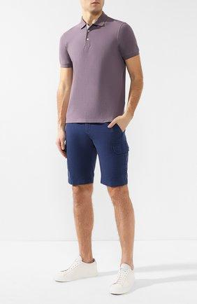 Мужские шорты из смеси хлопка и льна LORO PIANA синего цвета, арт. FAI6469 | Фото 2