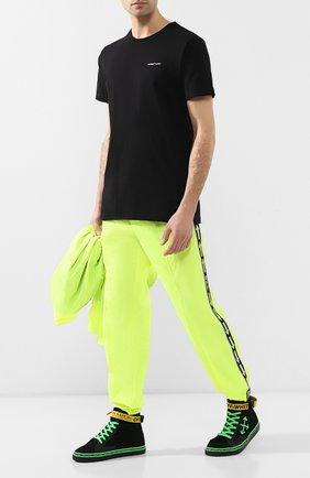 Мужские кожаные кеды OFF-WHITE черного цвета, арт. 0MIA116S19B430341040 | Фото 2