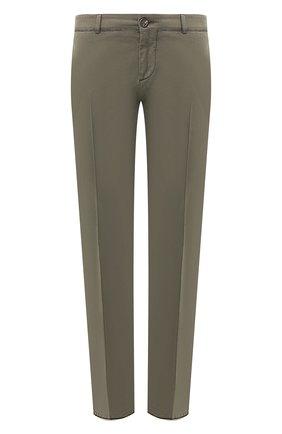 Мужской хлопковые брюки BRUNELLO CUCINELLI зеленого цвета, арт. M292LF5000 | Фото 1