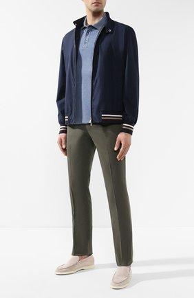 Мужской хлопковые брюки BRUNELLO CUCINELLI зеленого цвета, арт. M292LF5000 | Фото 2