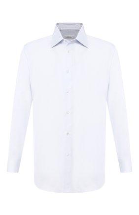 Мужская хлопковая сорочка с воротником кент BRIONI светло-голубого цвета, арт. RCLU2X/PZ003 | Фото 1