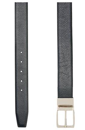 Мужской кожаный ремень CANALI темно-синего цвета, арт. 50/KA00107 | Фото 2